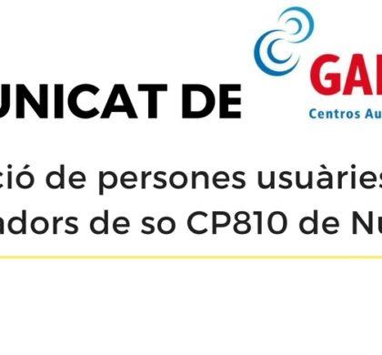 Comunicat de GAES sobre els processadors de so CP810 de Nucleus 5