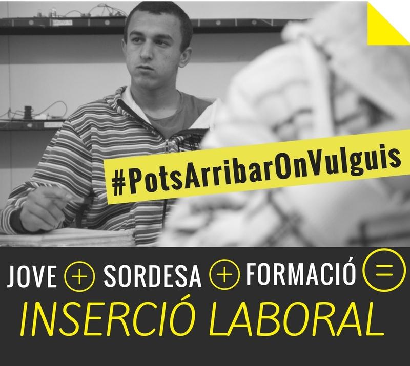 Només el 9% dels i de les joves amb discapacitat tenen feina. Suma't al nostre repte #PotsArribarOnVulguis