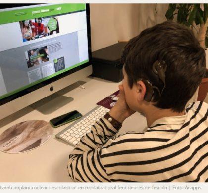 VideoConferències: orientacions per a l'alumnat amb sordesa