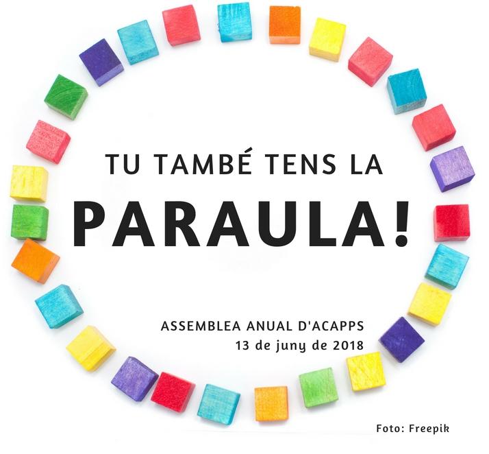 El 13 de juny, participa a l'assemblea de socis i sòcies d'ACAPPS
