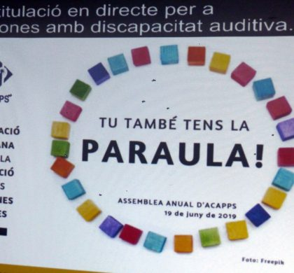 Presentem resultats de 2018 en l'Assemblea d'ACAPPS: atenem 345 persones amb discapacitat auditiva