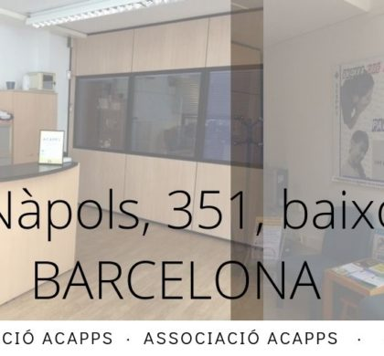 El 6 de juliol ACAPPS i la Federació ACAPPS tornem a l'activitat presencial!