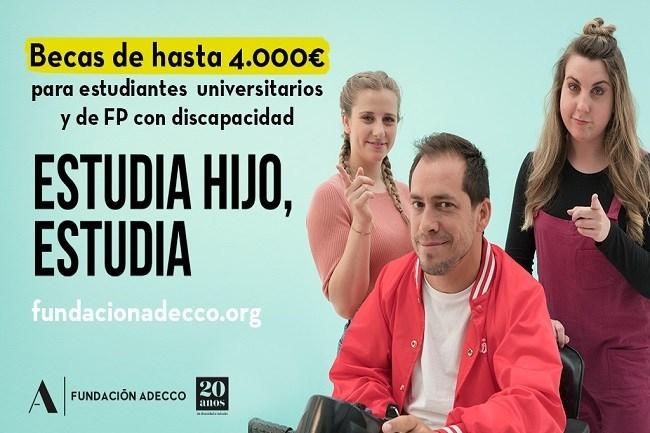 Encara estàs a temps: beques Fundació Adecco per a estudiants amb discapacitat