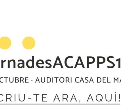 Reserva't la data: el 26 d'octubre t'esperem a les 24es #JornadesACAPPS19