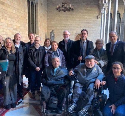 Les entitats del col·lectiu de la discapacitat presentem 38 reptes i 276 mesures a la Taula del Pacte Nacional sobre la Discapacitat
