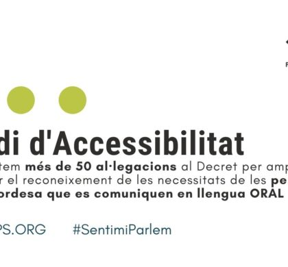 Presentem més de 50 al·legacions al decret d'Accessibilitat