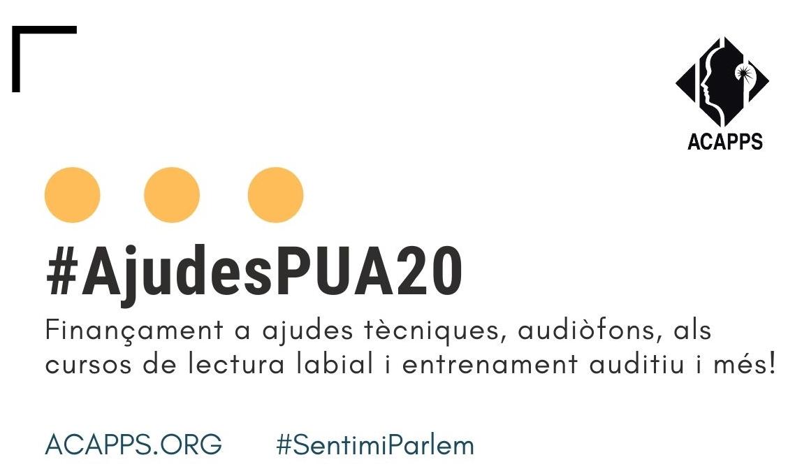Ja es poden demanar les ajudes PUA: es financen ajudes tècniques, audiòfons, cursos de lectura labial i entrenament auditiu