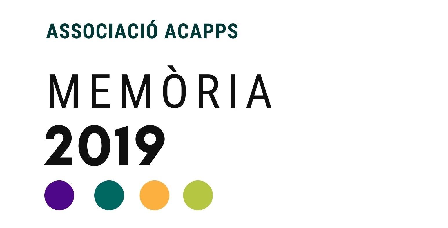 Publicada la memòria d'ACAPPS 2019