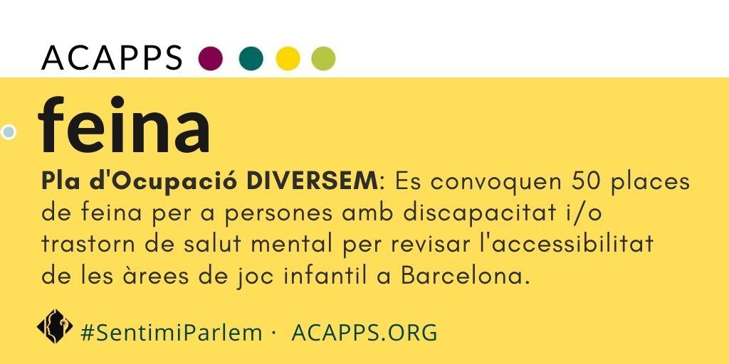 L'ajuntament de Barcelona convoca 50 places de feina per a persones amb discapacitat