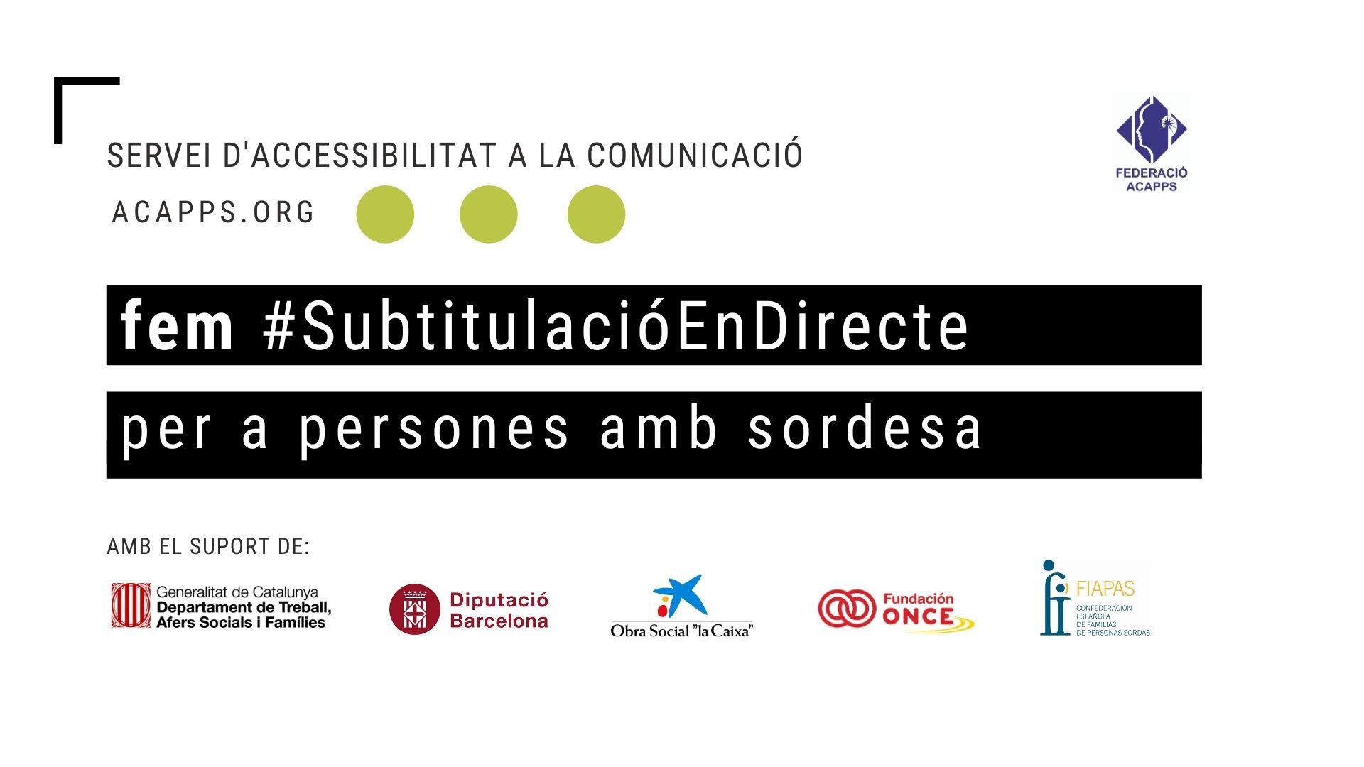 Nou servei en accessibilitat: Subtitulació en Directe Virtual