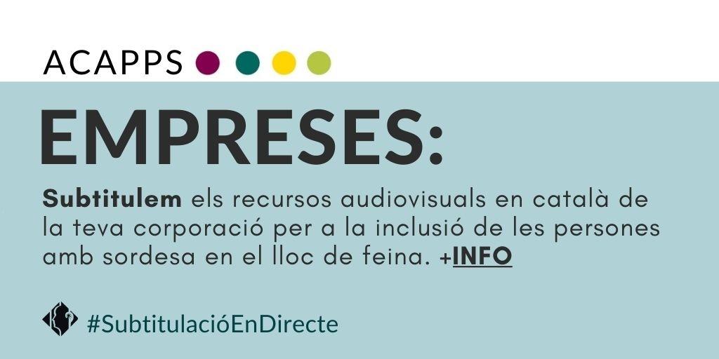 Subtitulem els recursos audiovisuals en català de les empreses compromeses amb la inclusió