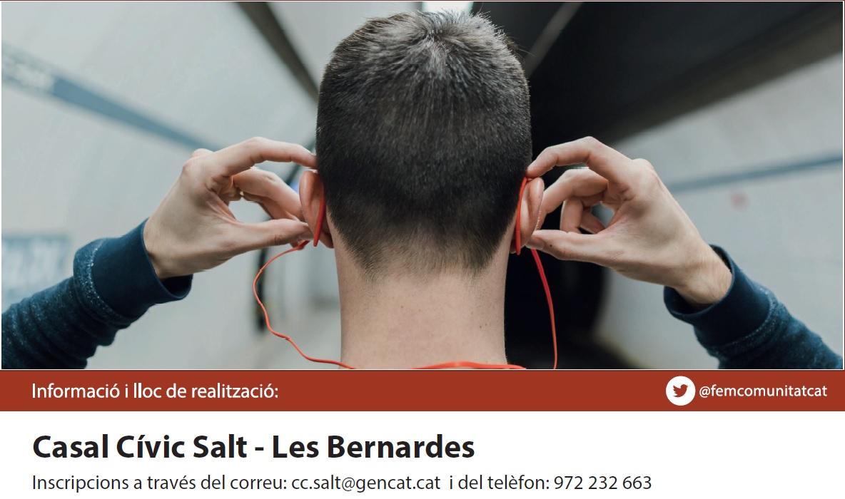 9/12: Oferim la xerrada Prevenció i sensibilització sobre la pèrdua d'audició en línia per al casal de Salt