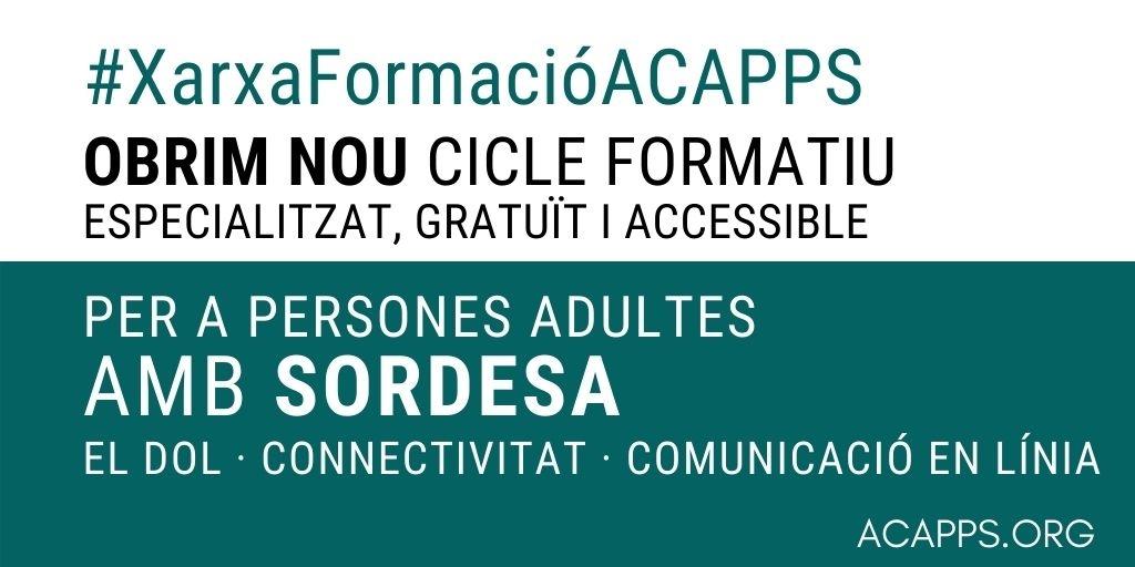 Cicle formatiu especialitzat per a persones amb sordesa: obrim INSCRIPCIONS!