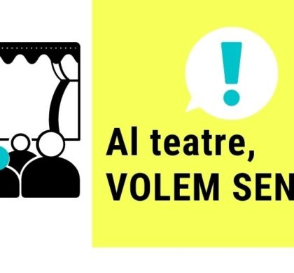 Això és inclusió: el Teatre Goya, el Teatre Condal, la Villarroel i el Teatre Romea amb bucle magnètic