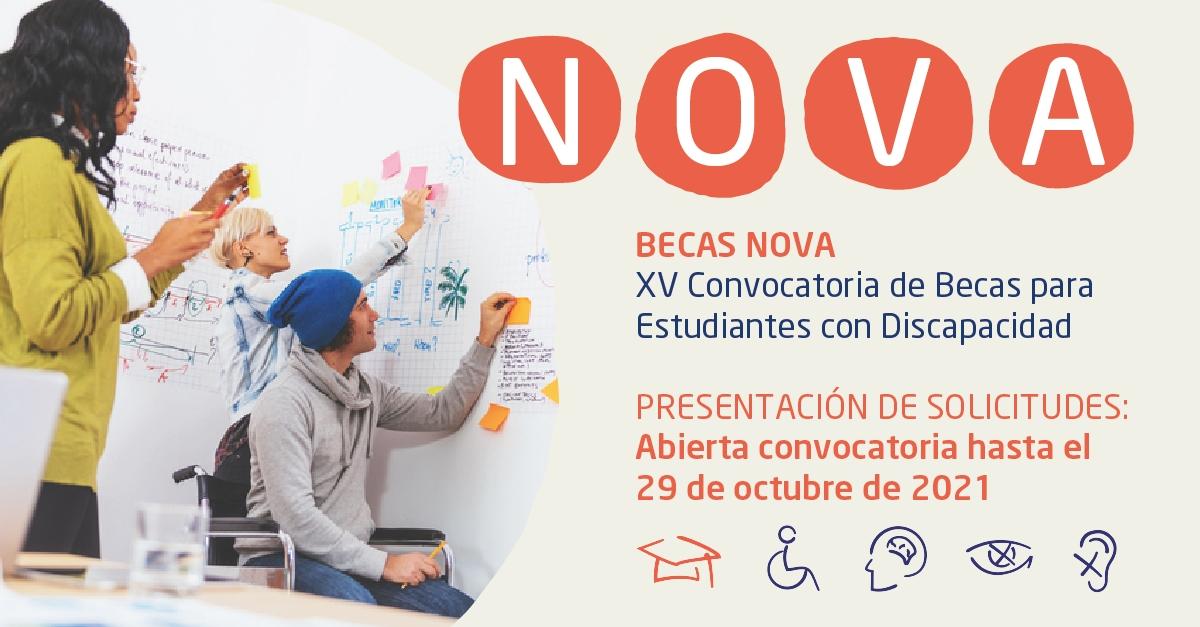 Beques NOVA per a l'estudiantat amb discapacitat