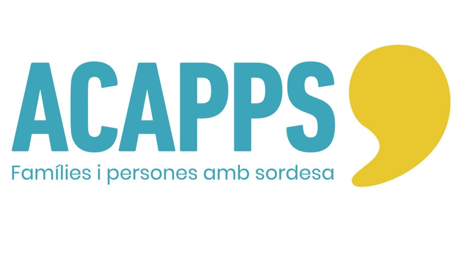 Nou logotip d'ACAPPS! Ens definim com el que som: famílies i persones amb sordesa que es comuniquen en llengua oral.