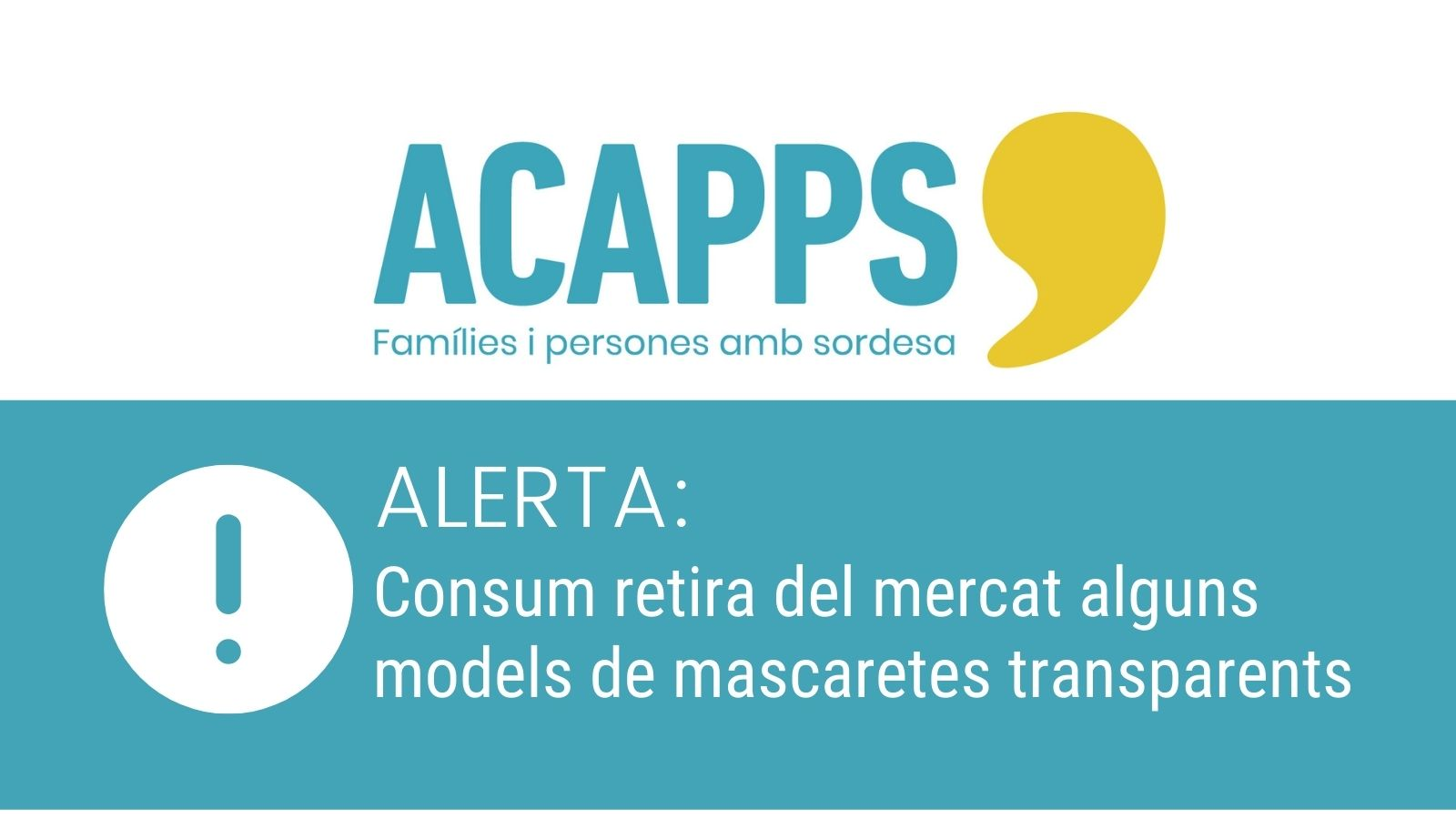 Alerta: Consum retira del mercat alguns models de mascaretes transparents per no ser segures